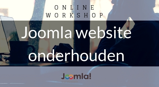 online workshop joomla3 website onderhouden