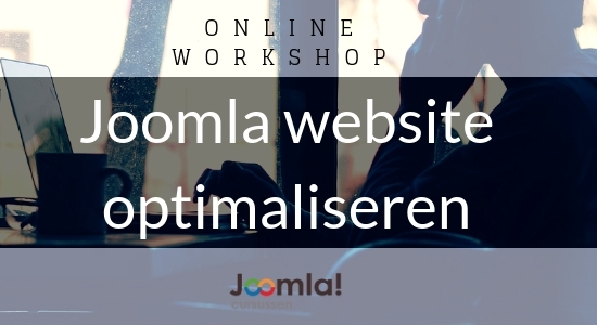 online workshop joomla3 website optimaliseren